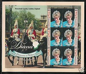 MALDIVES # 2330 MNH PRINCESS DIANA MEMORIAL Miniature Sheet