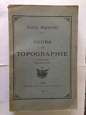 COURS DE TOPOGRAPHIE 1938 ECOLES MILITAIRES MILITARIA