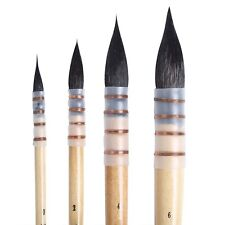 MEEDEN Artist Watercolor Paint Brush Mop and Wash Pure Squirrel Hair Set Of 4