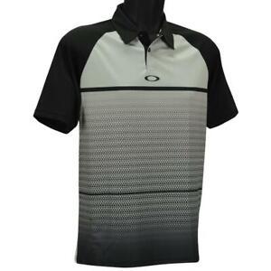 Oakley Moto Fade Polo Mens S Small Light Grey Golf Casual Regular Tee Shirt