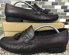 E. T. Wright Brown Leather Tassel Loafer Slip On Made in Italy Men's 10 EEE