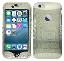 Glitter Phone Hard Soft Shock Proof Hybrid Silicone Cover Case for Apple Samsung