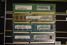 4x 1GB PC3 - 8500 DDR3 - 1066 MHz Desktop RAM DIMM Memory SOLD IN SETS OF 4