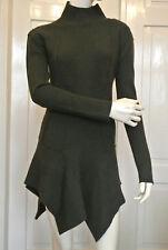 PLEIN SUD Jeanius, Pullover, Minikleid, Gr. D 38-40, 100% Schurwolle, grün NEU!