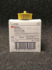 "3M-07525 Scotch-Brite Roloc Bristle Disc 7525 Yellow, 2"", Medium, (2 Discs)"