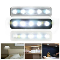 5X LED Bright Battery Operated Bulb Stick On Push On Strip Lights Kitchen Shed