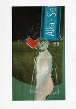 2 PRINTS DAVID HOCKNEY ADVERTISING ART ALKA SELTZER (SURREAL) & TYPHOO TEA