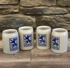 Set Of 4 Lowenbrau Muenchen Beer Mugs