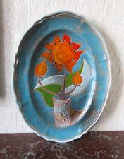 Grand plat céramique de Vallauris signé Gilbert Valentin Les Archanges Austruy