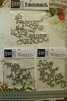 Chipboard Phrases FOLLOW your HEART, LIFE, DREAM etc - Scrap FX 3 Type Choice W2