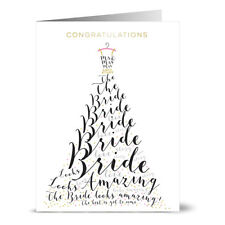24 Note Cards - Congratulations Wedding Dress - Gray Envs