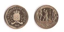 Netherlands Antilles __ 5 Gulden 2013 UNC 150th ANNI FREEDOM comm. Lemberg-Zp