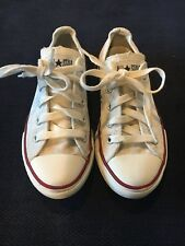 CONVERSE All Star Chuck Taylor Youth White Low Top Shoes Size 12