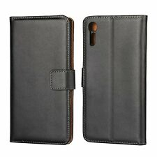 Premium Black Leather Wallet Flip Case Cover For Various Phone Models