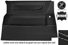 Grey stitch latérales coulissantes porte carte cuir housse fits vw T4 transporteur 90-03