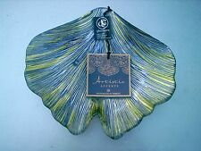 ARTISTIC ACCENTS HANDMADE IN TURKEY  GLASS CANDY DISH  WITH  LABEL
