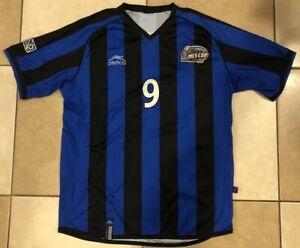 """RARE 2004 MLS CUP ATLETICA SOCCER JERSEY. DC UNITED CHAMPS JERSEY, Sz. 24"""" X 31"""""""