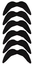 6 x schwarze große Hippie Afro Bärte Schnurrbart Schnauzer Oberlippenbart Bart