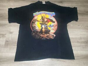 """VTG 1988 Molly Hatchet """"Hell Yeah!"""" Shirt XL Concert Tour Rock"""
