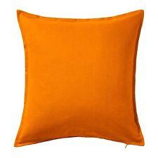 "NEW IKEA Gurli Orange Cushion Cover Gurli Throw Pillow Cover 20 x 20 "" w/ Zipper"
