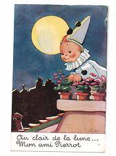 Fantaisie - cpa - Au clair de la Lune mon ami Pierrot (H9933)