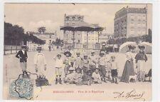 CPA 92270 BOIS COLOMBES Place République Enfants Kiosque Edit LE BRETON ca1904