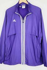 adidas Mens sz XL Purple Center Stripe Full Zip Wind Jacket Vented