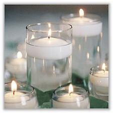 25 Large Big 8cm Floating White Wax Candle 6-7 burn hour wedding party birthday