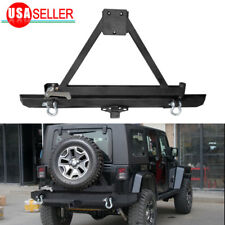 Attractive For 87 06 Jeep Wrangler TJ YJ Rock Crawler Rear Bumper W/Tire Carrier