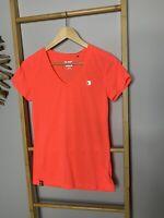 One Active Size 10 S Orange Cotton Blend Gym Tee T-shirt Women's Active Wear