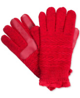Isotoner Signature Women's smarTouch® Textured Knit Gloves in Red,  $36 Retail