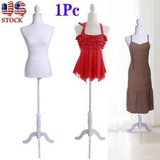 Half-Length Lady Model Female Mannequin Torso Dress Display Holder +Tripod Stand