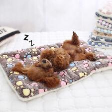 Pet Dog Cat Home Blanket Warm Soft Fleece Plush Bed Kennel Puppy Travel Mats US
