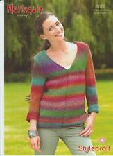 STYLECRAFT LADIES 8869 SWEATER CHUNKY KNITTING PATTERN HARLEQUIN STYLECRAFT