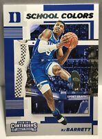 2019 Panini Contenders Draft Picks School Colors RJ Barrett #3 Duke RC ROOKIE