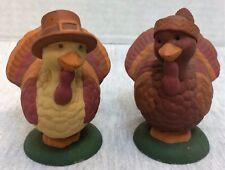 Ceramic (?) Turkey Salt and Pepper Shakers Thanksgiving Decor