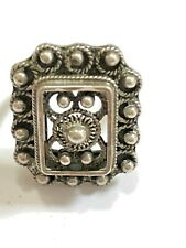 Norway Filigree Silver Ring, Size 4