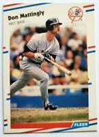 Don Mattingly Fleer 1988 Sports Trading Card #214 New York Yankees