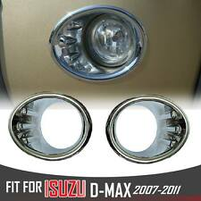 Chrome Ring Fog Spot light lamp Cover Trim Isuzu D-max Dmax 4x4 Rodeo 2007-2011