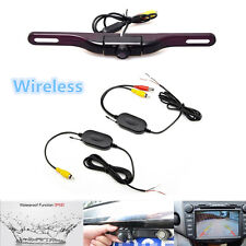Wireless License Plate Mount Car Rear View Backup Camera 170° HD IR Night Vision