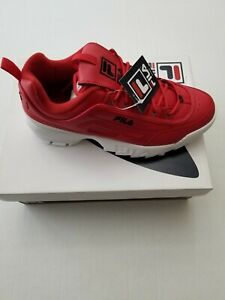 FILA MENS DISRUPTOR ll Premium Sneakers Shoes fRed Size Men Size 12 Red/White