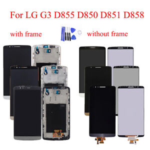 OEM For LG G3 D855 D850 D851 D858 LCD Digitizer Touch Screen Assembly + Frame