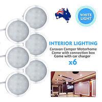 12V  6x Interior LED Round Shape Ceiling Spot Light for Camper Van Caravan LD984