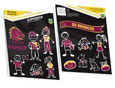 BRISBANE Broncos NRL My Footy Family Sticker Sheet * 14 Images per Packet