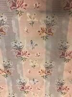 Scalamandre Marquis Silk Floral Stripe Lampas Fabric Drapery 15 Yards