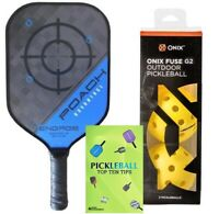 Engage Pickleball Advantage Paddle and Onix Fuse G2 Outdoor Pickleballs Bundle