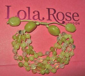 LOLA ROSE *STUNNING* NEW KOREAN JADE MONTANA AGATE ADJUSTABLE BRACELET GREEN QVC