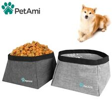 Waterproof Pet Dog Travel Bowl Collapsible Container for Food Water Dish Feeder