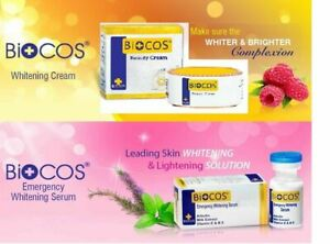 Biocos whitening Cream & Emergency Whitening Serum 100% Original Natural