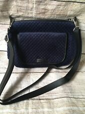 Vera Bradley Carson Mini Shoulder Crossbody Bag Classic Navy Velvet